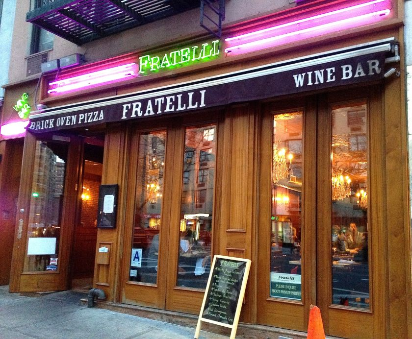 Fratelli Brick Oven Pizza & Wine Bar - The Italian Restaurant on The Upper East Side #NYC