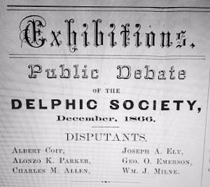 Delphic Society, Rochester